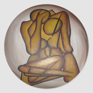 Abstract Couple Sticker