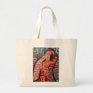 Abstract Coyote Large Tote Bag
