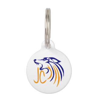 Abstract Coyote Pet Tag
