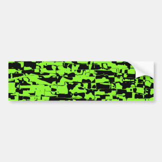 Abstract Crackle Bumper Sticker