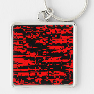 Abstract Crackle Keychain