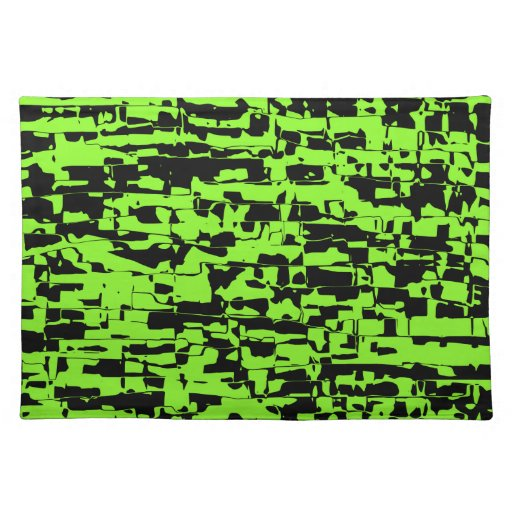 Abstract Crackle Placemats