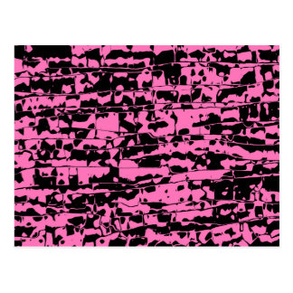 Abstract Crackle Postcard