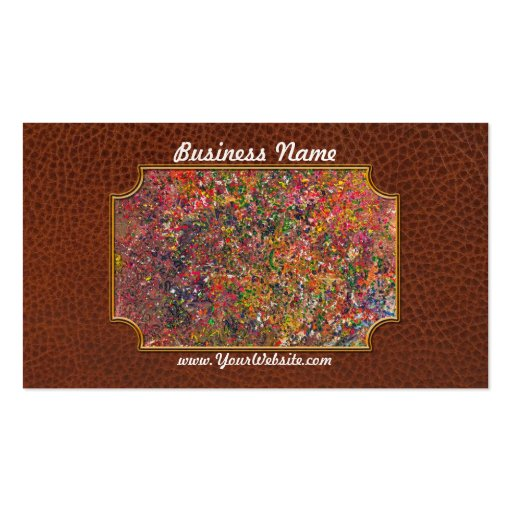 Abstract - Crayon - A Genuine Fiasco Business Card