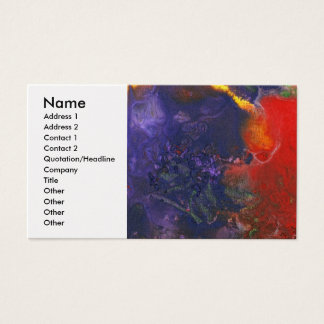 Abstract - Crayon - Andromeda Business Card