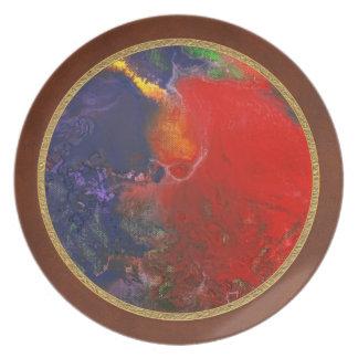 Abstract - Crayon - Andromeda Plate