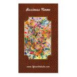 Abstract - Crayon - Mardi Gras Business Card