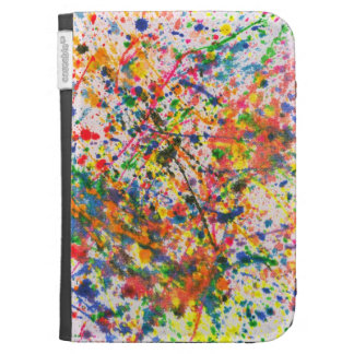 Abstract - Crayon - Mardi Gras Kindle Cases