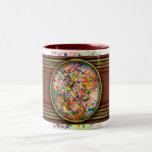 Abstract - Crayon - Mardi Gras Coffee Mug