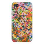 Abstract - Crayon - Mardi Gras iPhone 4 Cases