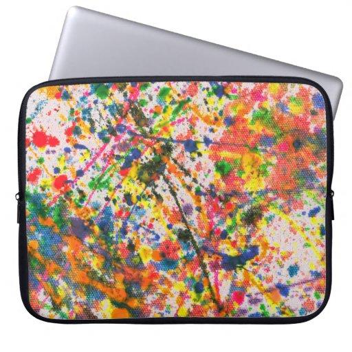 Abstract - Crayon - Mardi Gras Laptop Sleeves
