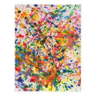 Abstract - Crayon - Mardi Gras Postcard
