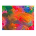 Abstract - Crayon - Melody Post Cards