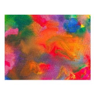 Abstract - Crayon - Melody Postcard