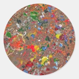 Abstract - Crayon - Montazuma's Revenge Classic Round Sticker