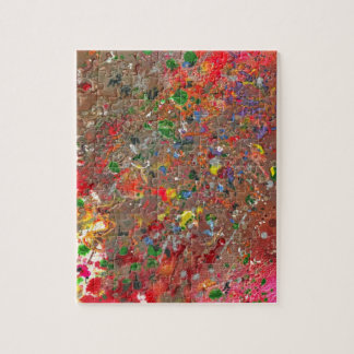 Abstract - Crayon - Montazuma's Revenge Jigsaw Puzzle