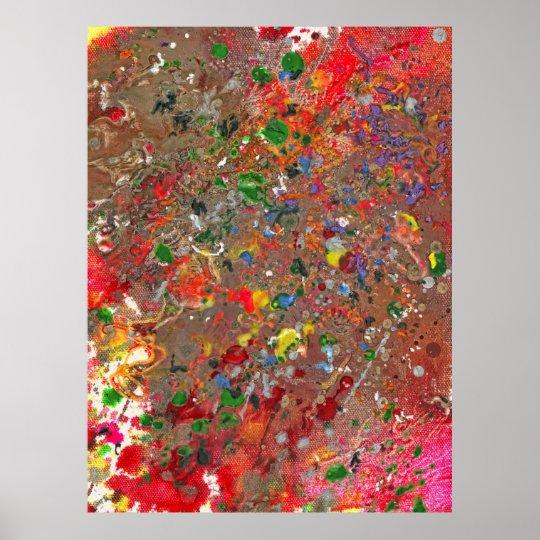 Abstract - Crayon - Montazuma's Revenge Poster