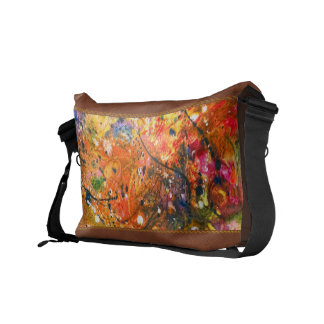 Abstract - Crayon - The Excitement Messenger Bags