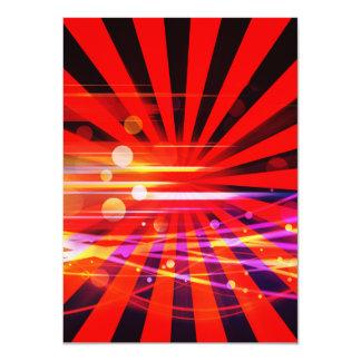 Abstract Crazy Light Ray Star Burst Pattern Card