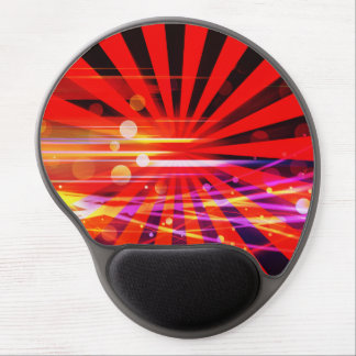 Abstract Crazy Light Ray Star Burst Pattern Gel Mouse Pad