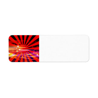 Abstract Crazy Light Ray Star Burst Pattern Label
