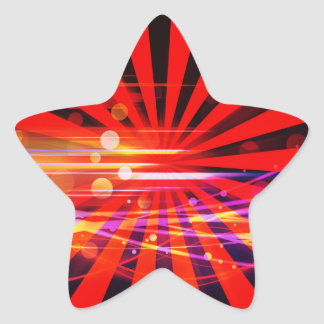 Abstract Crazy Light Ray Star Burst Pattern Star Stickers