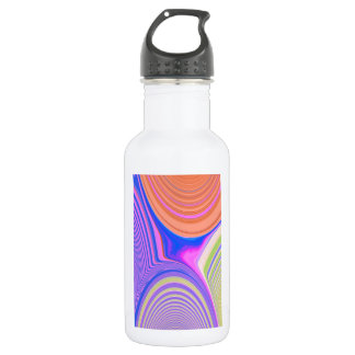 Abstract Creation (Blue/Salmon/Light Green/Pink) Water Bottle