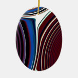 Abstract Creation (Red & Blue Wine) Ornaments