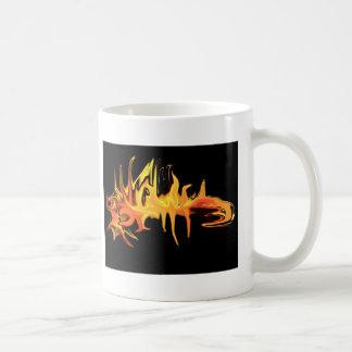 abstract creepy fire icicle design illustration coffee mug