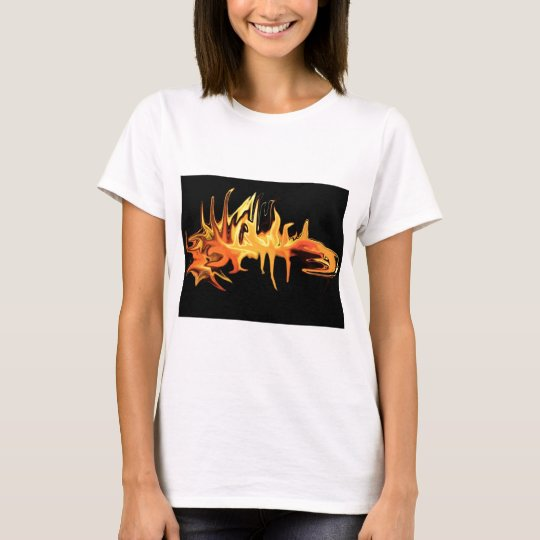 abstract creepy fire icicle design illustration T-Shirt