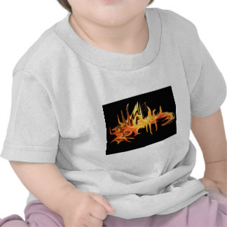 abstract creepy fire icicle design illustration t shirt