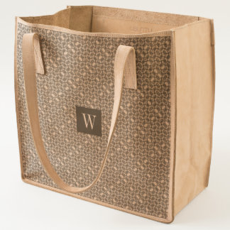 Abstract CrissCross Weave Pattern Optional Initial Tote