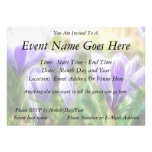 Abstract - Crocus Flowers Invitations