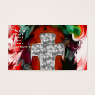 Abstract Cross Business Card 2