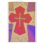 abstract cross card