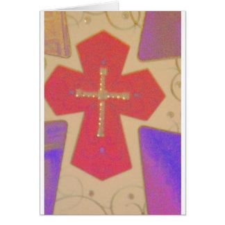 abstract cross card