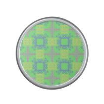 Abstract Cross Geometric Pastel Color Pattern Bluetooth Speaker