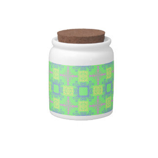 Abstract Cross Geometric Pastel Color Pattern Candy Jars