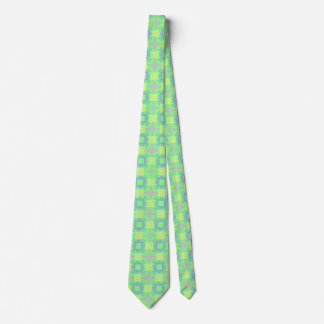 Abstract Cross Geometric Pastel Color Pattern Tie