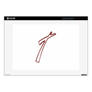 Abstract Cross Outline Decals For Laptops
