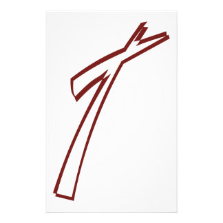 Abstract Cross Outline Stationery