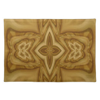 Abstract Cross Pattern Cloth Placemat