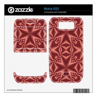 abstract cross pattern in the color red nokia e63 decals