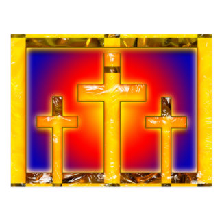 ABSTRACT CROSSES POST CARDS