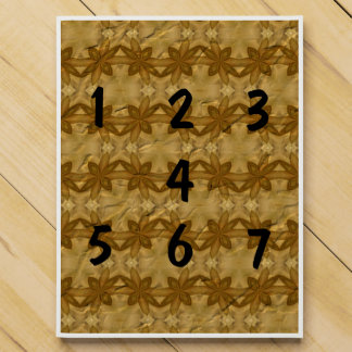Abstract crumpled paper chocolate countdown calendars