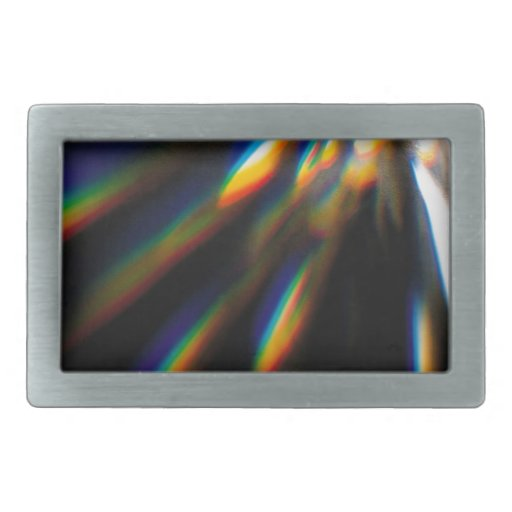 Abstract Crystal Reflect Bolt Belt Buckle