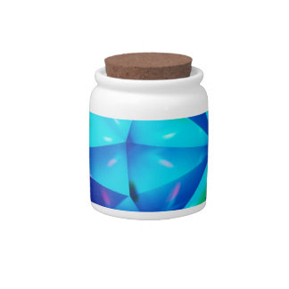 Abstract Crystal Reflect Clown Candy Jars