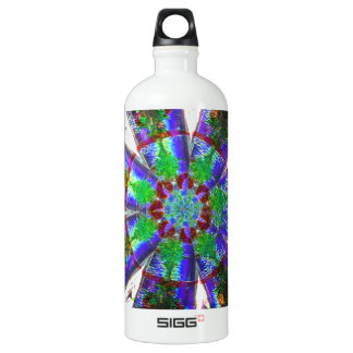 Abstract Crystal Reflect Dandelion Aluminum Water Bottle