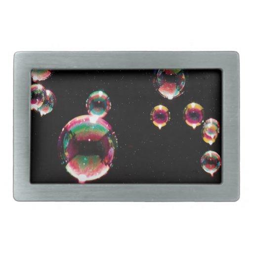 Abstract Crystal Reflect Drop Rectangular Belt Buckle