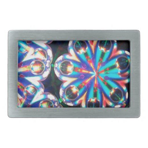 Abstract Crystal Reflect Eyes Rectangular Belt Buckles